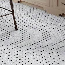 Black And White Patterned Floor Tiles Inspiration Black And White Tile Floor Wayfair