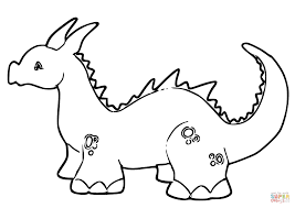 Cute Baby Dragon Coloring Page Free Printable Pages New Viettiinfo