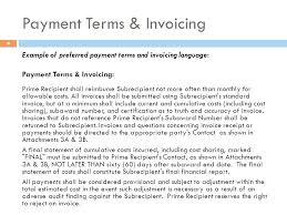 Invoice Payment Terms Sample 10 Platte Sunga Zette