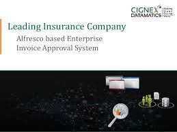 We care and we serve. Detailed Case Study Leading Insurance Company Alfresco Based Invo