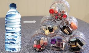 Water Bottles To Decorate DIY Makeup Room Organiser ♡ Recycle Plastic Bottles YouTube 52