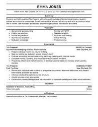 tax preparer resume tax preparer resume tomorrowworld simple Free Sample  Resume Cover sample tax accountant resume