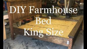 diy how to build a farmhouse king size bed farmhouse platform bed
