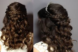 Hairstyles For A Quinceanera Prom Sweet Sixteen Hair Tutorial Half Up Half Down Curly Updo
