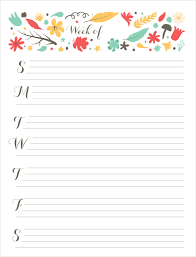 29 Images Of Cute Printable Daily Schedule Template Leseriail Com