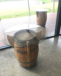 Passel Estate Wine Barrel Bar Table Fine Art