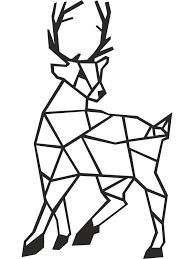 reindeer metal wall art decor linewallart