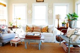 Sam Moore Furniture for a Shabby Chic Style Family Room with a