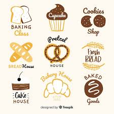 Hand Drawn Bakery Logos Vector Free Download