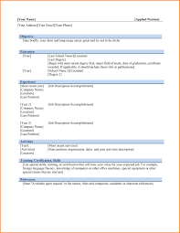 Cv Format For Job In Ms Word Microsoft Word Resume Template Ms Word