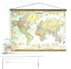 Framed Wall Map Of The World Decor Map World Map Antique Framed Art