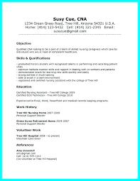 Objective For Cna Resume Impressive Cna Resume Skills Resume Sample Example Examples Of Resumes Skills