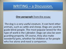 writing an essay three basic steps plan write check  one paragraph from the essay the dog is a very