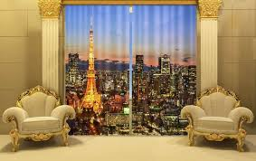 Office drapes New Night Eiffel Tower 3d Blackout Curtains For Living Room Bedding Room Office Drapes Cotinas For Home Custom Drapery Workroom Night Eiffel Tower 3d Blackout Curtains For Living Room Bedding Room