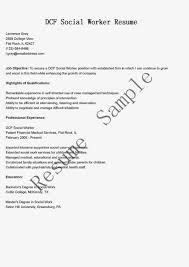 Job Resume Sample Social Worker Example Objective For Work Student