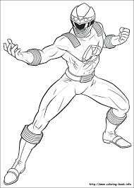 Printable Power Rangers Coloring Pages Mighty Dino Thunder Ranger