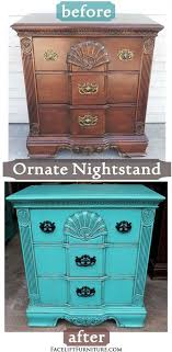 furniture refurbished. ornate nightstand refinished in turquoise with black glaze refurbished furniturefurniture furniture
