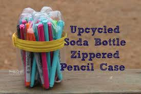 picture of upcycled soda bottle zippered pencil case