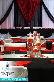 red black and white wedding ceremony