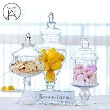 candy jar set large transpa glass with lid storage bottle wedding decoration dessert pot kmart