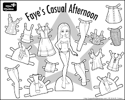 Small Picture Fayes Casual Afternoon Paper Doll Coloring Sheet