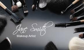 stylish makeup artist business card design 601071