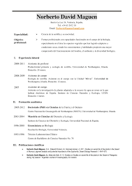 Ejemplos de resume de empleo