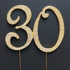 30th Anniversary Decorations 30 Gold Cake Topper 30th Birthday Anniversary Number Decorations