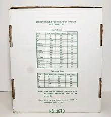 Cabela S Wader Size Chart Hodgman Wadelite Breathable Waders Size Small 23 98