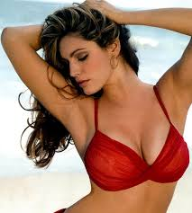 Big breasted red hot model