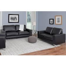 contemporary leather sofa sets. Interesting Sets CorLiving Cory 2Piece Contemporary Black Bonded Leather Sofa Set With Sets T