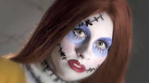 follow this video makeup guide for a creepy ragdoll halloween look inspiration of scary doll halloween