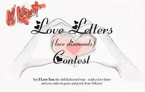 short love letter contest love letters love diamonds final fashion