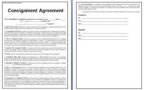 Consignment Agreement Template Word Consignment Contract Template Template Business 8