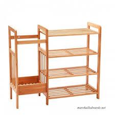 new ridge home goods natural bamboo 4 tier shoe rack shoe tower shelf storage organizer cabinet