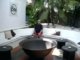 large fire pit metal round cover r52