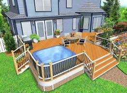 Hot Tub Backyard Ideas Plans Awesome Design