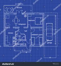 Blueprint Floor Plan Modern Apartment On Stock Vector Royalty Free