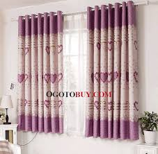 Loading zoom. Heart Pattern Printed Bay Window Curtains ...