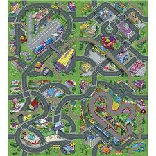 crazy town childrens play mat 140 x 160 cm city roads rug 4 diffe patterns airport