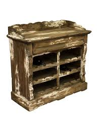 unique wooden furniture. Distressed Reclaimed Pine Wooden Wine Storage Cupboard / Rack - Vintage Finish Unique Furniture M