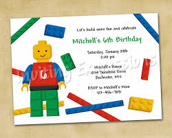 lego birthday party invitation wording