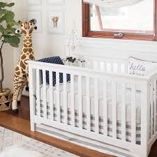 white and gray nursery bedding laa beach collection