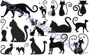 Cat Silhouette Embroidery Design Cats Silhouettes Design For Embroidery Machine Chats