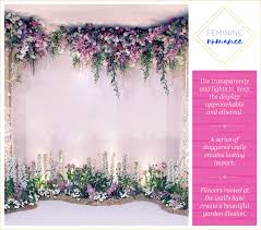 add lights to whimsical buds and dy vines to create a fairy tale feel pastel purples and pinks paired with white create the ultimate feminine vibe