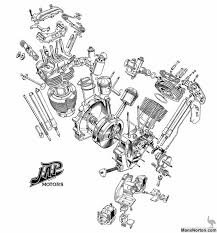 jap v twin engine diagram
