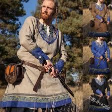 Halloween <b>Adult Men Medieval</b> Knight Warrior Costume Tunic ...