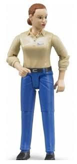 <b>Фигурка Bruder Женщина в</b> голубых джинсах 60-408 — купить по ...