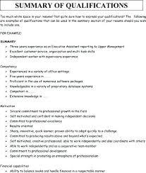Sample Summary Statement Resume Example Of Resume Summary Example Resume Summary For Entry Level