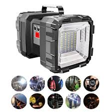 Portable Bright Lights Us 17 57 38 Off Portable Bright Double Head Flashlight Searchlight Lamp Usb Rechargeable Outdoor Emergency Camping Light Work Light Original In